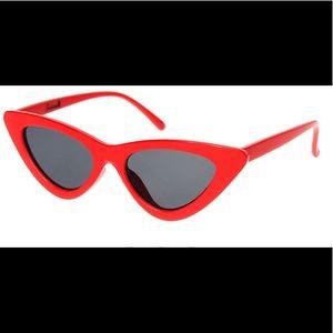 Sourpuss Cat Eye Sunglasses In Red